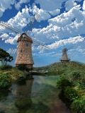 Two windmills Royalty Free Stock Photos