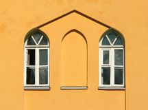 Two window on the wall Royalty Free Stock Photography