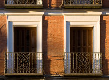 Two Windows And Balcony Royalty Free Stock Photography
