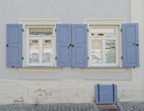 Two windows, Bamberg, Germany Royalty Free Stock Photography