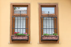 Two Windows with Bars Royalty Free Stock Images