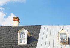 Two Windows and Chimney Stock Image