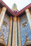 Two windows and five columns at Grand Palace, Thailand Stock Photo
