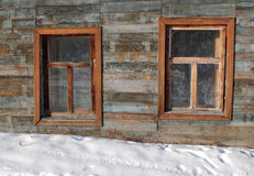 Two windows near ground Stock Photo