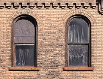 Two Windows in Need of Repair Stock Photos