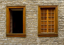 Two Windows, One Open Royalty Free Stock Images