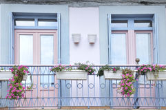 Two windows in pastel colors Royalty Free Stock Photo