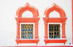 Two windows of St. Basil Cathedral, Red Square, Moscow Stock Photography