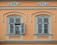 Two Windows on the wall Royalty Free Stock Photos