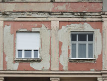 Two windows on the wall Stock Image