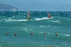 Two windsurfer Stock Photo
