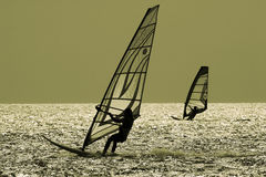 TWO WINDSURFERS Royalty Free Stock Image