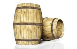Two wine barrel Royalty Free Stock Images