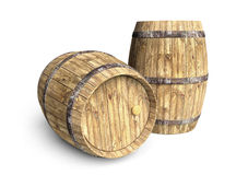 Two wine barrels Royalty Free Stock Photo
