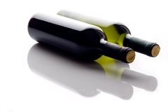 Two wine bottles Royalty Free Stock Photos