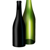 Two wine bottles Stock Photography