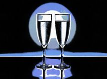 Two wine / champagne glasses illustration. Illustration of two wine / champagne glasses Royalty Free Stock Photos