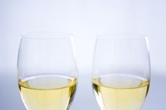 Two Wine Glasses Royalty Free Stock Images