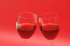 Two wine glasses Stock Photos