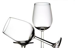 Two wine glasses Stock Photo