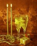 Two wine glasses Stock Photo