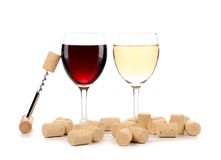 Two wine glasses composition. Stock Photos