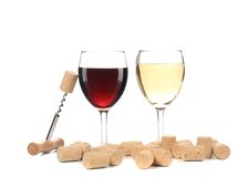 Two wine glasses composition. Royalty Free Stock Images
