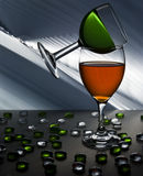 Two wine glasses concept Stock Photography