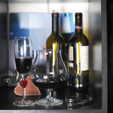 Two Wine Glasses Stock Images