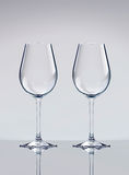 Two wine glasses. With reflection. 3D render Royalty Free Stock Image