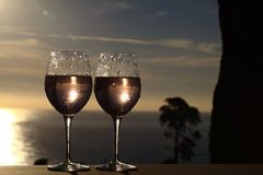 Two wine glasses Stock Photography