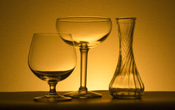 Two wine glasses and a vase Stock Image