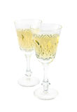 Two wine glasses on white Royalty Free Stock Image