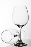 Two wine glasses Stock Image