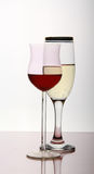 Two wine goblets Royalty Free Stock Photos