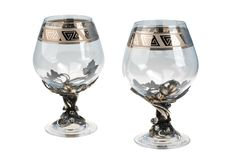 Two wine goblets Stock Images