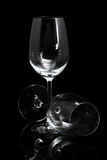 Two wineglass on a black background Stock Photo
