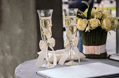 Two wineglass  of sparkling wine Stock Photo
