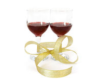 Two wineglass of vine Royalty Free Stock Image