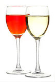 Two wineglass. On a white background Stock Photo