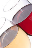 Two wineglasses Stock Images