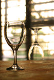 Two wineglasses. Near window on table Stock Photography