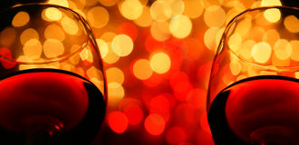 Two wineglasses royalty free stock photo