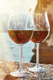 Two wineglasses Stock Photography