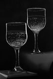 Two wineglasses with bubbly drink Royalty Free Stock Images