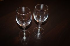 Two wineglasses - food and drink equipment stock image