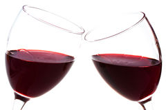 Two wineglasses with red wine Royalty Free Stock Photos