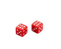 Two winner dice Stock Image