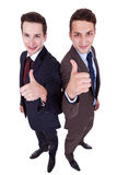 Two winning young business  men Royalty Free Stock Image