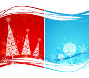 Two winter backgrounds. Stock Image